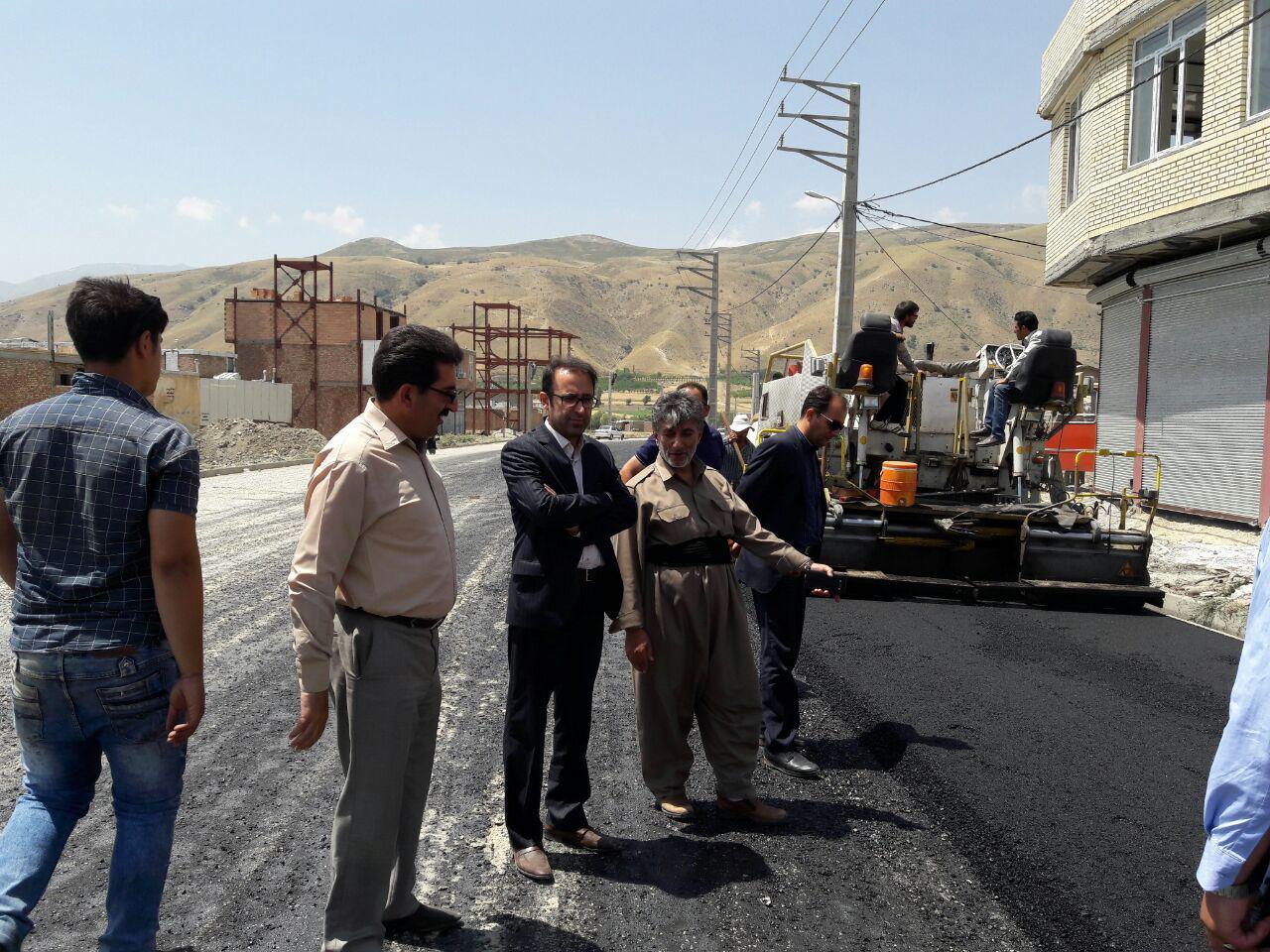 بازدید اعضای شورای اسلامی شهر و معاونت محترم شهرداری از پروژه های عمرانی شهرداری پیرانشهر
